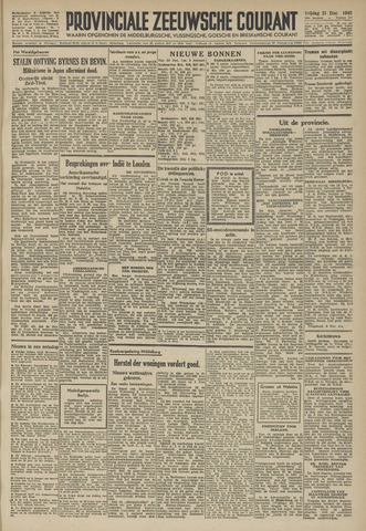 Provinciale Zeeuwse Courant 1945-12-21