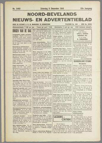 Noord-Bevelands Nieuws- en advertentieblad 1948-12-11