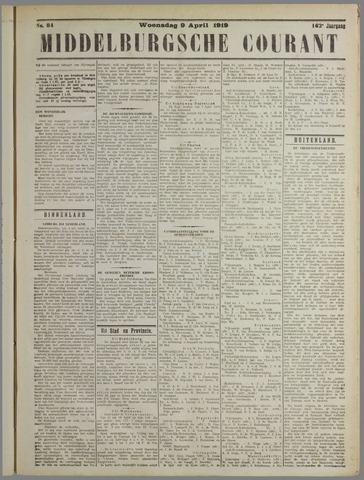 Middelburgsche Courant 1919-04-09