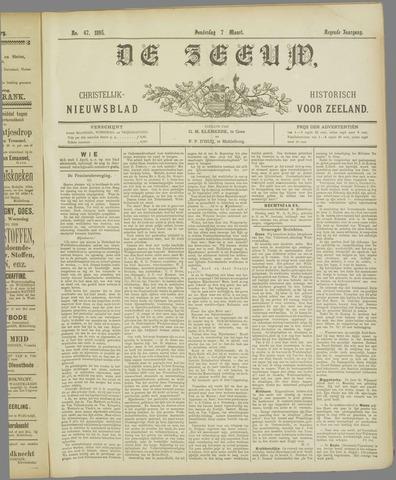 De Zeeuw. Christelijk-historisch nieuwsblad voor Zeeland 1895-03-07