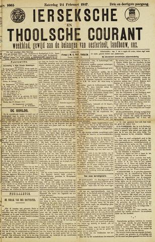 Ierseksche en Thoolsche Courant 1917-02-24