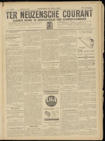 Ter Neuzensche Courant. Algemeen Nieuws- en Advertentieblad voor Zeeuwsch-Vlaanderen / Neuzensche Courant ... (idem) / (Algemeen) nieuws en advertentieblad voor Zeeuwsch-Vlaanderen 1935-04-24