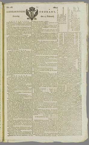 Middelburgsche Courant 1809-02-25