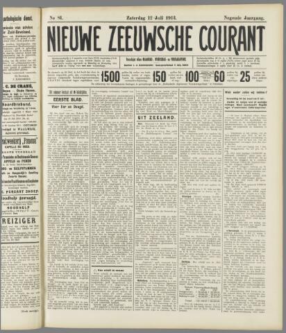 Nieuwe Zeeuwsche Courant 1913-07-12