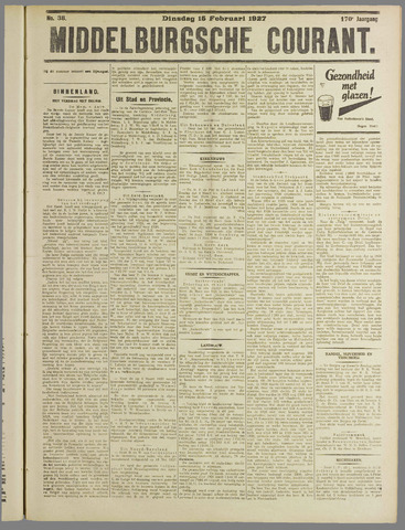Middelburgsche Courant 1927-02-15
