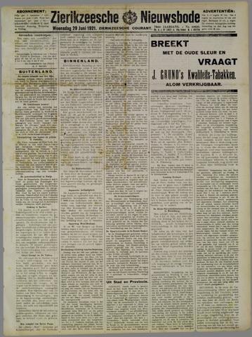Zierikzeesche Nieuwsbode 1921-06-29