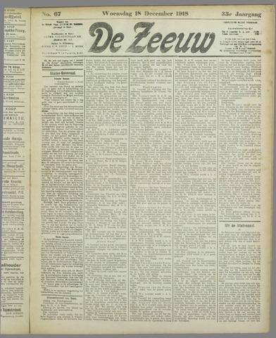 De Zeeuw. Christelijk-historisch nieuwsblad voor Zeeland 1918-12-18