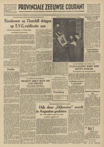 Provinciale Zeeuwse Courant 1954-06-29
