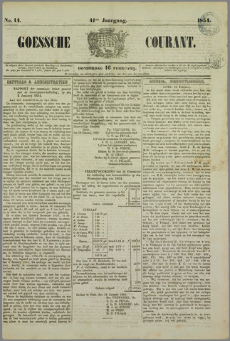 Goessche Courant 1854-02-16