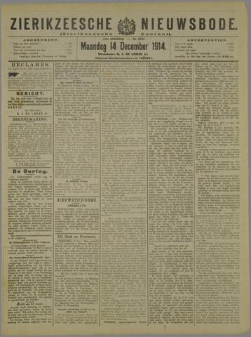 Zierikzeesche Nieuwsbode 1914-12-14