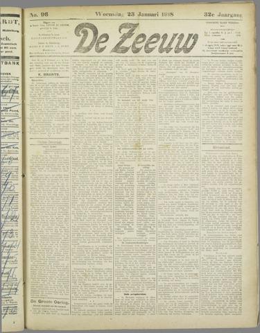 De Zeeuw. Christelijk-historisch nieuwsblad voor Zeeland 1918-01-23