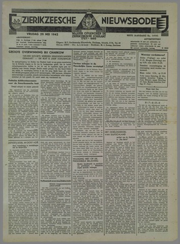 Zierikzeesche Nieuwsbode 1942-05-29