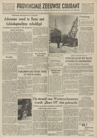 Provinciale Zeeuwse Courant 1953-09-08