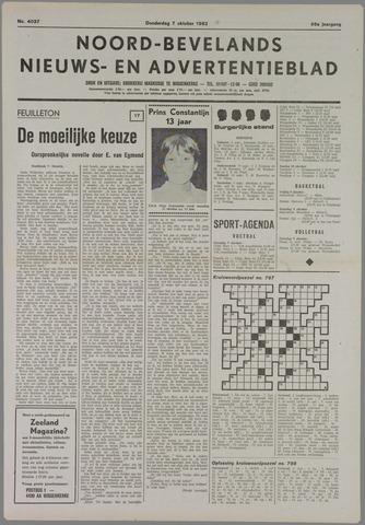 Noord-Bevelands Nieuws- en advertentieblad 1982-10-07
