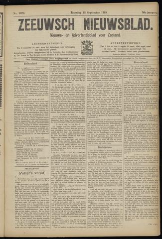Ter Neuzensch Volksblad. Vrijzinnig nieuws- en advertentieblad voor Zeeuwsch- Vlaanderen / Zeeuwsch Nieuwsblad. Nieuws- en advertentieblad voor Zeeland 1919-09-13