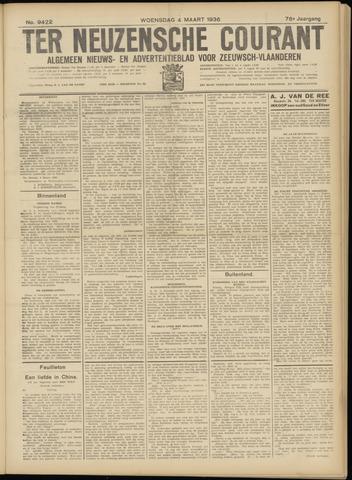 Ter Neuzensche Courant. Algemeen Nieuws- en Advertentieblad voor Zeeuwsch-Vlaanderen / Neuzensche Courant ... (idem) / (Algemeen) nieuws en advertentieblad voor Zeeuwsch-Vlaanderen 1936-03-04