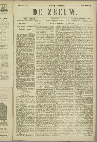 De Zeeuw. Christelijk-historisch nieuwsblad voor Zeeland 1891-12-08