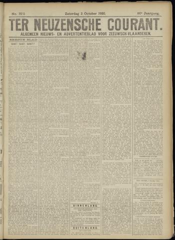 Ter Neuzensche Courant. Algemeen Nieuws- en Advertentieblad voor Zeeuwsch-Vlaanderen / Neuzensche Courant ... (idem) / (Algemeen) nieuws en advertentieblad voor Zeeuwsch-Vlaanderen 1920-10-02