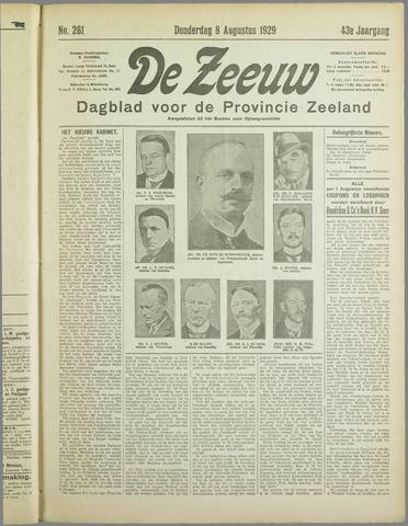 De Zeeuw. Christelijk-historisch nieuwsblad voor Zeeland 1929-08-08