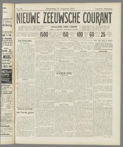 Nieuwe Zeeuwsche Courant 1913-08-21