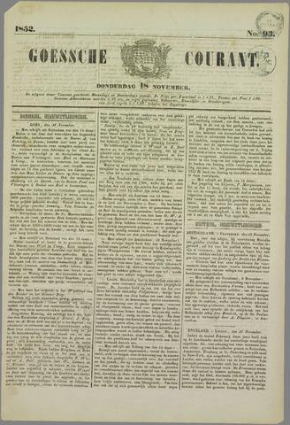 Goessche Courant 1852-11-18