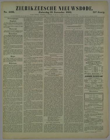 Zierikzeesche Nieuwsbode 1882-11-18