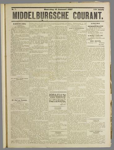Middelburgsche Courant 1927-01-10