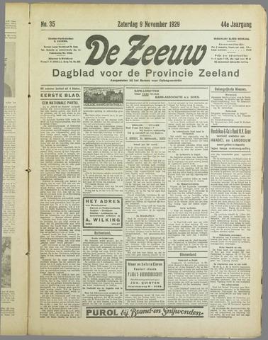 De Zeeuw. Christelijk-historisch nieuwsblad voor Zeeland 1929-11-09