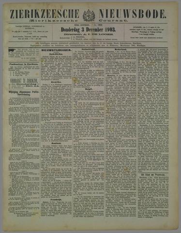 Zierikzeesche Nieuwsbode 1903-12-03