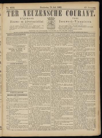 Ter Neuzensche Courant. Algemeen Nieuws- en Advertentieblad voor Zeeuwsch-Vlaanderen / Neuzensche Courant ... (idem) / (Algemeen) nieuws en advertentieblad voor Zeeuwsch-Vlaanderen 1902-07-24