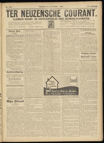Ter Neuzensche Courant. Algemeen Nieuws- en Advertentieblad voor Zeeuwsch-Vlaanderen / Neuzensche Courant ... (idem) / (Algemeen) nieuws en advertentieblad voor Zeeuwsch-Vlaanderen 1933-11-10
