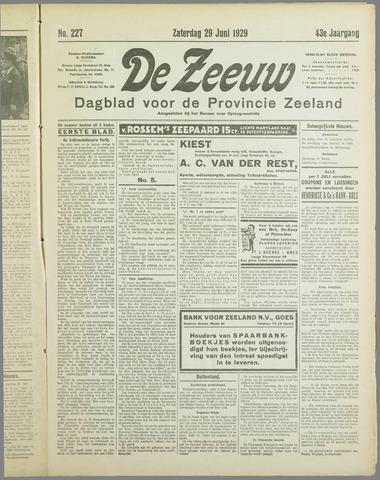 De Zeeuw. Christelijk-historisch nieuwsblad voor Zeeland 1929-06-29