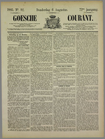 Goessche Courant 1885-08-06
