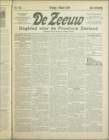 De Zeeuw. Christelijk-historisch nieuwsblad voor Zeeland 1929-03-01