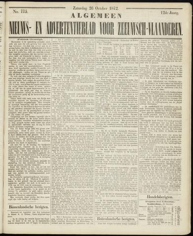 Ter Neuzensche Courant. Algemeen Nieuws- en Advertentieblad voor Zeeuwsch-Vlaanderen / Neuzensche Courant ... (idem) / (Algemeen) nieuws en advertentieblad voor Zeeuwsch-Vlaanderen 1872-10-26