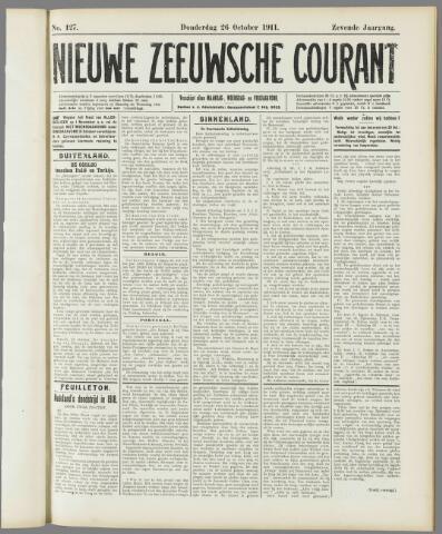 Nieuwe Zeeuwsche Courant 1911-10-26