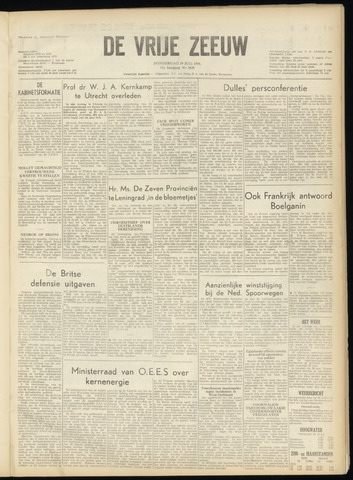 de Vrije Zeeuw 1956-07-19