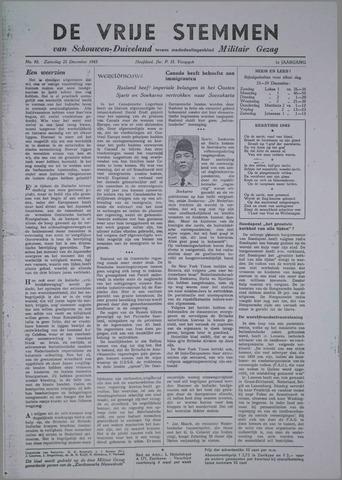Vrije Stemmen van Schouwen-Duiveland, tevens mededeelingenblad Militair Gezag 1945-12-22