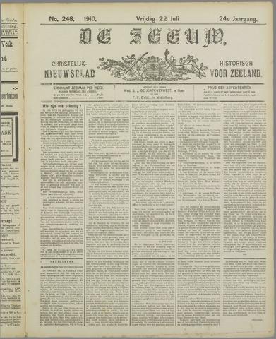 De Zeeuw. Christelijk-historisch nieuwsblad voor Zeeland 1910-07-22