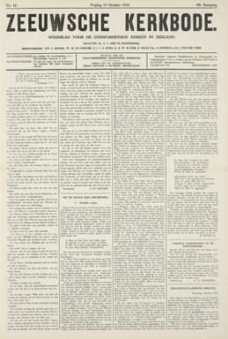 Zeeuwsche kerkbode, weekblad gewijd aan de belangen der gereformeerde kerken/ Zeeuwsch kerkblad 1934-10-19