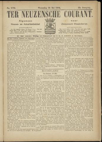 Ter Neuzensche Courant. Algemeen Nieuws- en Advertentieblad voor Zeeuwsch-Vlaanderen / Neuzensche Courant ... (idem) / (Algemeen) nieuws en advertentieblad voor Zeeuwsch-Vlaanderen 1882-05-24