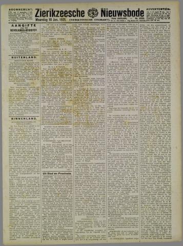 Zierikzeesche Nieuwsbode 1921-01-10