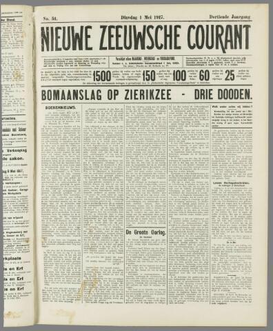 Nieuwe Zeeuwsche Courant 1917-05-01