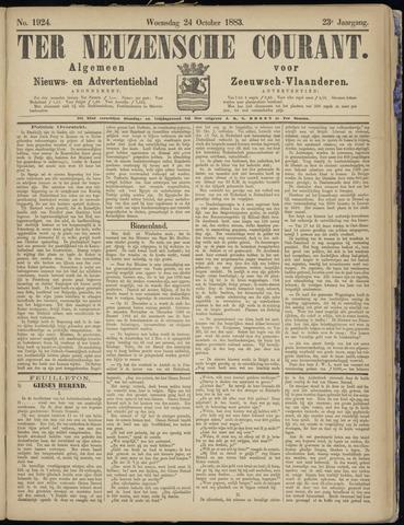 Ter Neuzensche Courant. Algemeen Nieuws- en Advertentieblad voor Zeeuwsch-Vlaanderen / Neuzensche Courant ... (idem) / (Algemeen) nieuws en advertentieblad voor Zeeuwsch-Vlaanderen 1883-10-24