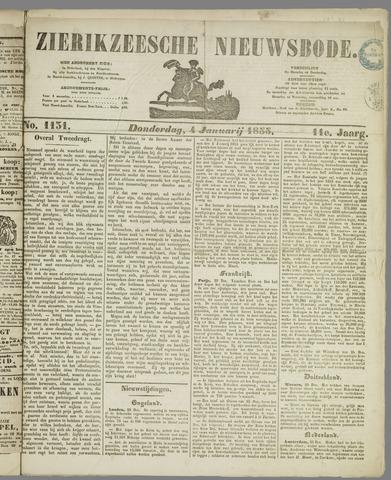 Zierikzeesche Nieuwsbode 1855-01-04