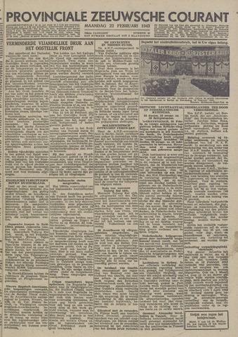 Provinciale Zeeuwse Courant 1943-02-22
