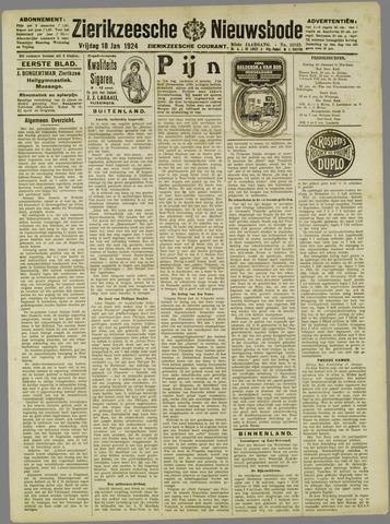 Zierikzeesche Nieuwsbode 1924-01-18