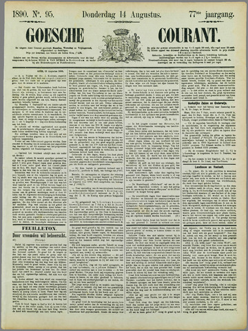 Goessche Courant 1890-08-14