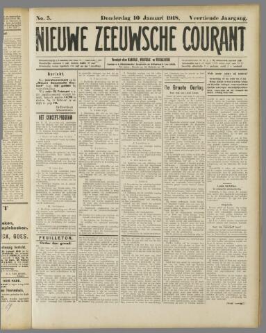 Nieuwe Zeeuwsche Courant 1918-01-10