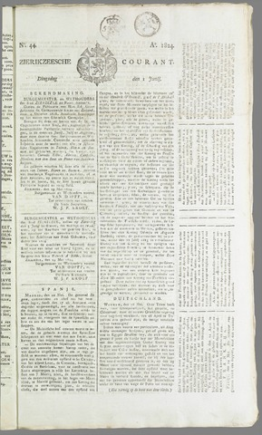 Zierikzeesche Courant 1824-06-01